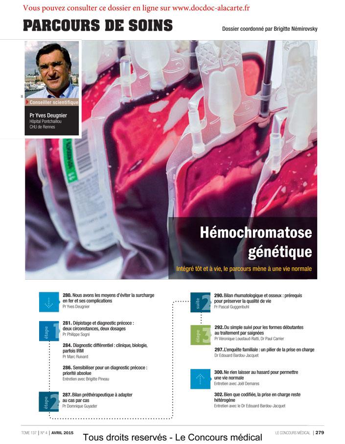 Hémochromatose génétique - Parcours de soins